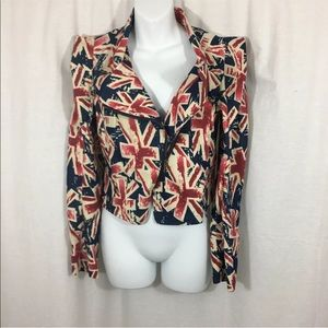 Women's Cals British Flag Themed Denim Jacket
